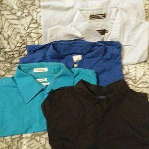 Set of 4 button down dress shirts